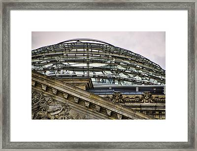 Berlins Reichstag Dome Framed Print by Jon Berghoff