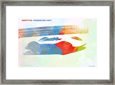 Bernd Rosemeyer Framed Print by Naxart Studio