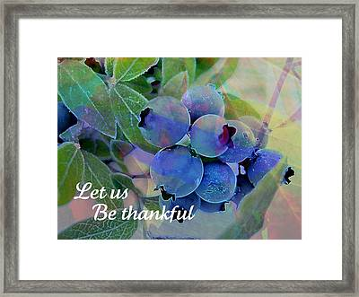 Berry Beautiful Framed Print by Shirley Sirois