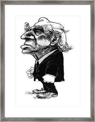Bertrand Russell, Caricature Framed Print