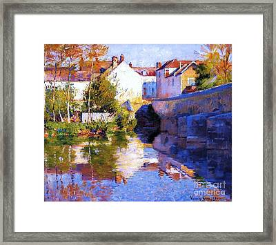 Beside The River - Grez Framed Print by Pg Reproductions