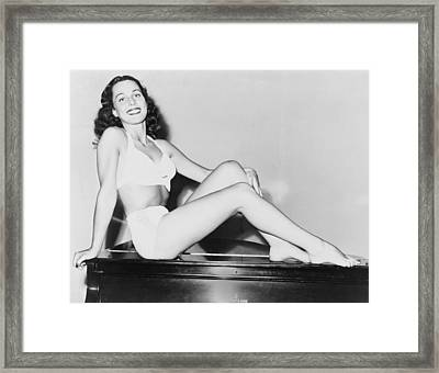 Bess Myerson B. 1924, As Miss New York Framed Print