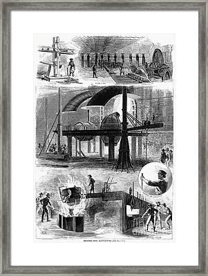 Bessemer Steel, 1876 Framed Print by Granger