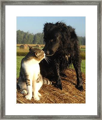 Best Buddies Portrait Framed Print