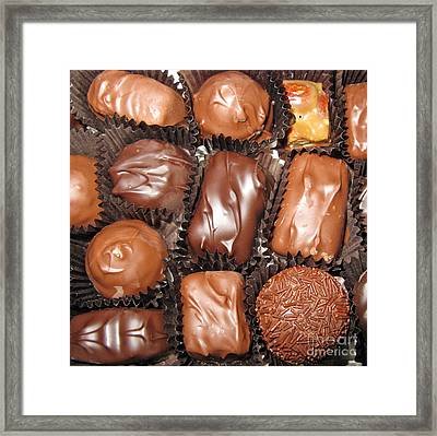 Best Collection Of Chocolate Sweets Square 01 Framed Print