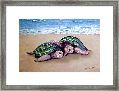 Framed Print featuring the painting Best Friends Forever by Ginny Schmidt