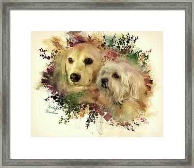 Best Friends Framed Print by Kathy Tarochione