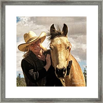 Framed Print featuring the digital art Best Friends by Rhonda Strickland