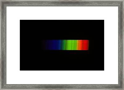 Betelgeuse Emission Spectrum Framed Print by Dr Juerg Alean