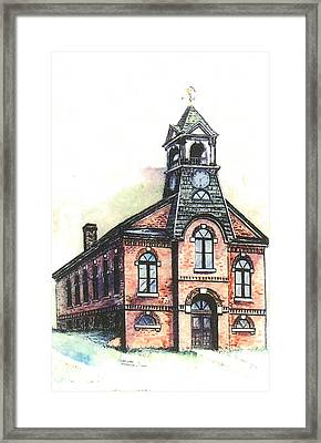 Bethel Vt Old Town Hall Framed Print
