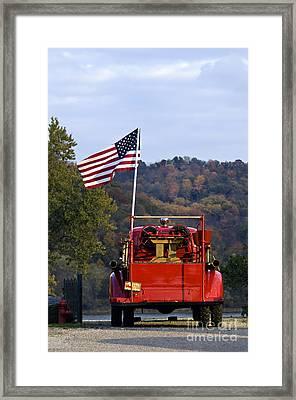 Bethlehem Fire Truck - D008199 Framed Print by Daniel Dempster