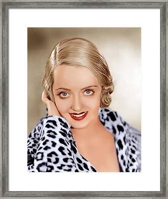 Bette Davis, Ca. 1932 Framed Print by Everett