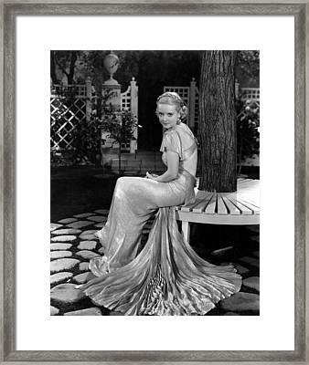 Bette Davis In The 1930s Framed Print by Everett