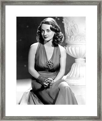 Bette Davis, Warner Brothers, 1940s Framed Print