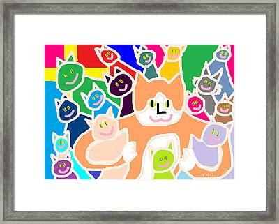 Bette Loves Everyone Framed Print by Anita Dale Livaditis