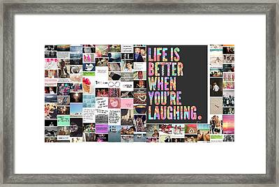 Better To Laugh Framed Print by Holley Jacobs