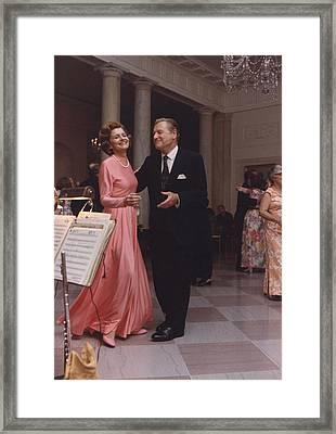 Betty Ford And Vp-designate Nelson Framed Print