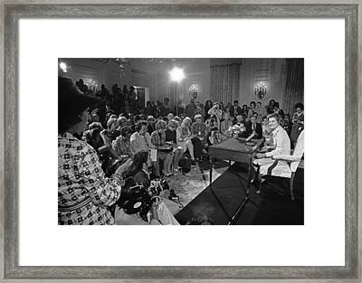 Betty Ford Hosts Her First Press Framed Print