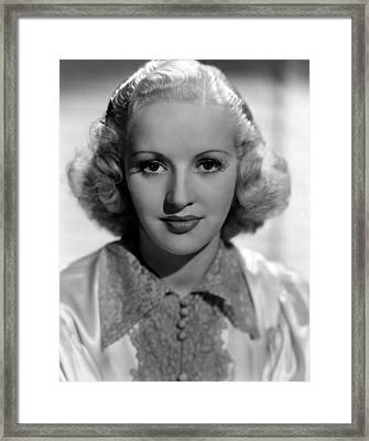 Betty Grable, 1937 Framed Print by Everett