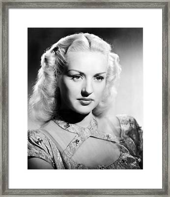 Betty Grable, 1947 Framed Print