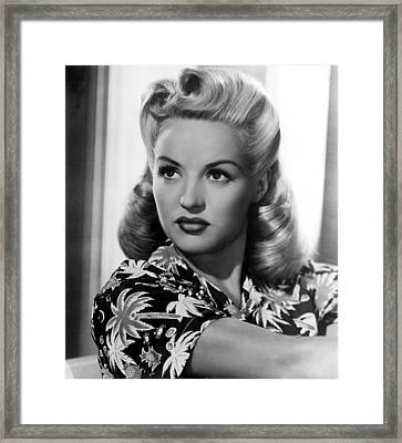Betty Grable, 20th Century-fox, 1940s Framed Print by Everett