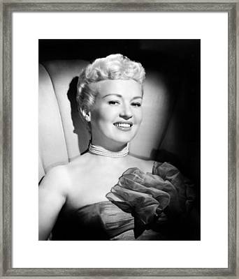 Betty Grable, 20th Century-fox, Late Framed Print by Everett
