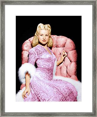 Betty Grable, Ca. 1940s Framed Print by Everett