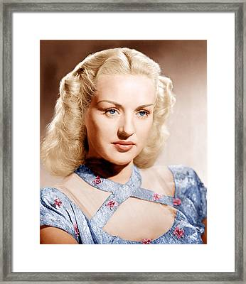 Betty Grable, Ca. 1947 Framed Print by Everett