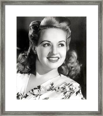 Betty Grable, Circa 1940s Framed Print by Everett