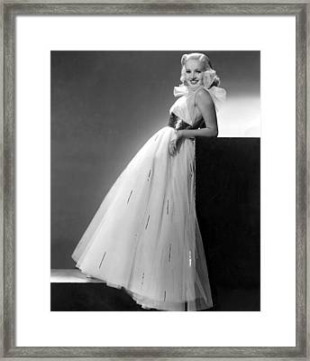 Betty Grable, Paramount Pictures, 1937 Framed Print by Everett