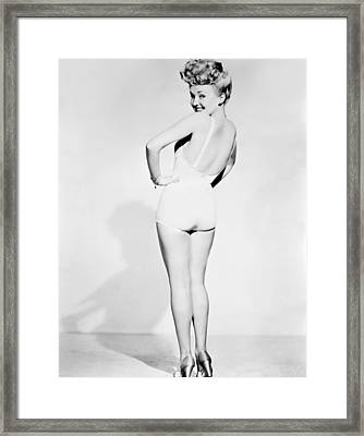 Betty Grable, World War II Pin-up Framed Print