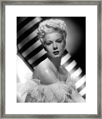Betty Hutton, Paramount Pictures, 1947 Framed Print
