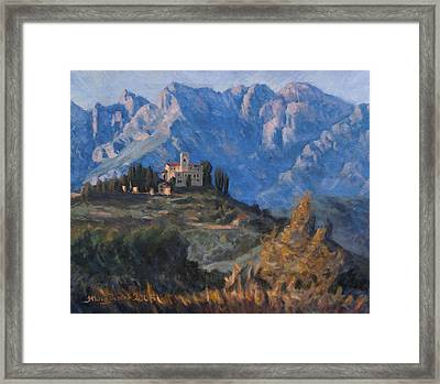 Between Earth And Sky Framed Print by Marco Busoni