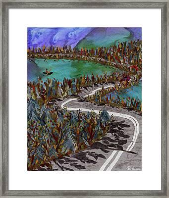 Between Lakes Framed Print by Marina Gershman