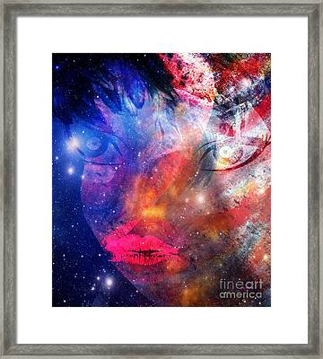Between Me - Passion And Time Framed Print