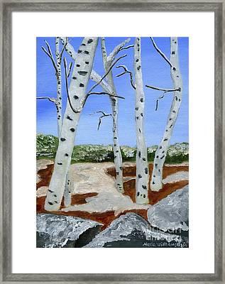 Between Seasons  Framed Print by Maria Williams