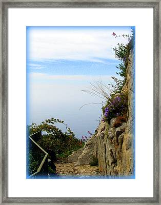 Between Sky And Sea Framed Print by Carla Parris