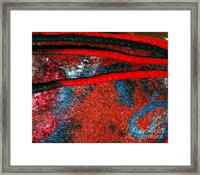 Between The Felted Lines    Framed Print