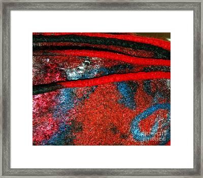 Between The Felted Lines    Framed Print by Alexandra Jordankova