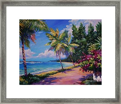 Between The Palms Framed Print by John Clark
