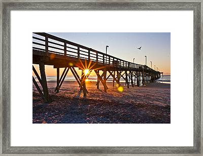 Between The Poles Framed Print by Betsy Knapp