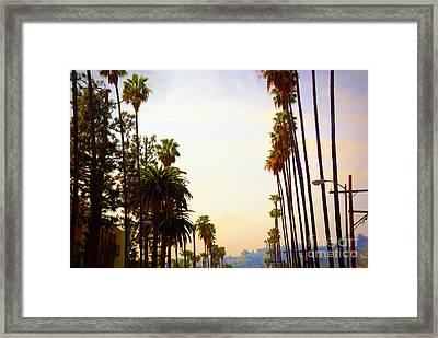 Beverly Hills In La Framed Print by Susanne Van Hulst