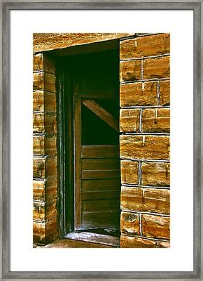 Beware Of The Dark Framed Print by Lynne and Don Wright
