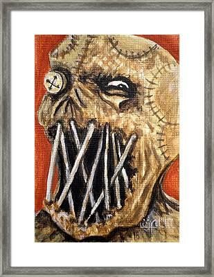 Beware The Fear Framed Print by Al  Molina