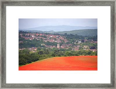 Bewdley On Poppy Framed Print