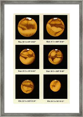 Beyer's Observations Of Mars Framed Print by Detlev Van Ravenswaay