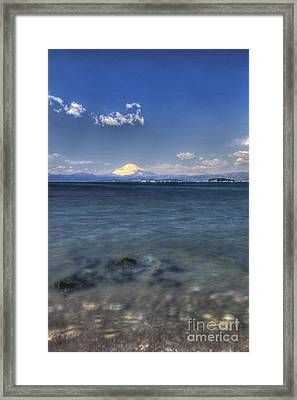 Framed Print featuring the photograph Beyond Sea by Tad Kanazaki