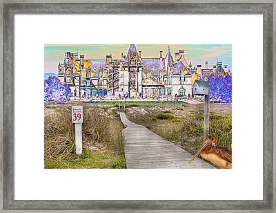 Beyond The Beach Framed Print