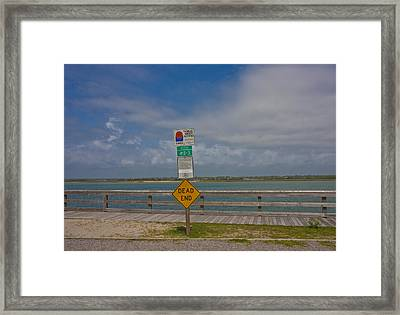 Beyond The End Framed Print by Betsy Knapp
