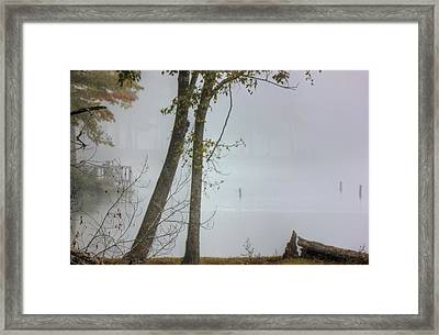 Beyond The Fog Framed Print by Barry Jones